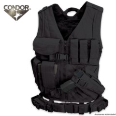 Condor Outdoor Cross Draw Vest - BLK