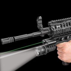 Tactical Grip Laser And 300-Lumen Flashlight