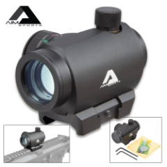 AIMS 1x20 MM Micro Dot Sight - Aircraft Grade Aluminum Construction, Shock-Resistant, Nitrogen Charged, Dual Illuminated
