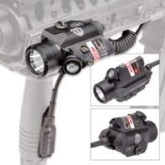 Dagger Defense White and Red Pistol Flashlight