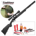 Traditions Firearms .50 Caliber BuckStalker Black Powder Rifle Redi-Pak