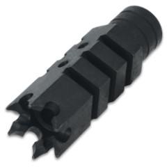 "TacFire Thread Shark Muzzle Brake - For .223/5.56, 1/2""x 28 TPI, Steel Construction, Black Oxide Finish - Length 2 9/10""x 9/10"""