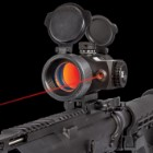 Tactical Reflex Dot Sight With Red Laser - Anodized Aluminum Alloy Construction, Built-In Mount, Adjustable For Wind - Length: 4 4/5""
