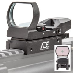 Tactical Combat Reflex Sight – Eight Reticles, 33MM Lens With Anti-Glare, Red And Green Dot Sight, Integrated Rail
