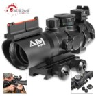 4X32 Tri-Illumination MIL-DOT Reticle Scope With Fiber Optic Sight