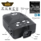 UZI Digital Night Vision Monocular - 3X Magnification, 2X Digital Zoom, 8GB Micro-SD Card, Record And Playback Video And Images