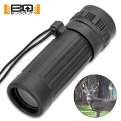 Bug-Out Mini Monocular - Rubberized Armor Housing, 8x21 Magnification, Integrated Lanyard, FOV: 131M/1000M