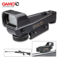 """Gamo Electronic Illuminated Green Dot Air Gun Sight – Fits 3/8"""" Grooved Receivers, Low Profile Design, Windage And Elevation Adjustment"""