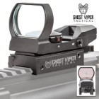 GVT Tactical Combat Reflex Sight - Eight Reticles, 33MM Lens With Anti-Glare, Red And Green Dot Sight, Integrated Rail