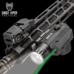 Ghost Viper Tactical 300 Green Laser And Flashlight Combo - Sturdy TPU Housing, Weapons Mount Clamping Block, Windage/Elevation Adjustment