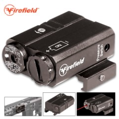 Firefield Charge Red Laser Rifle Sight – Aluminum Construction, Low Profile Design, Water-Resistant, Picatinny/Weaver Mount