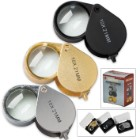 Jeweler's Loupe Three-Piece Set With Storage Cases