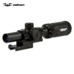 Valken V-Tactical Mil-Dot AR Scope 1-4x20 with Offset Mount