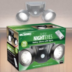 Solar Night Eyes Dual Alarm Light