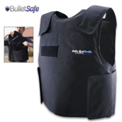 BulletSafe Bulletproof Vest – NIJ Level IIIA Protection Protects Against Most Handguns, Comfortable And Adjustable, Concealable