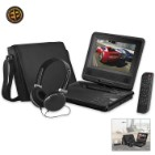 DVD Player With Swivel Screen – Black