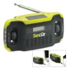 Digital Solar Radio And LED Flashlight