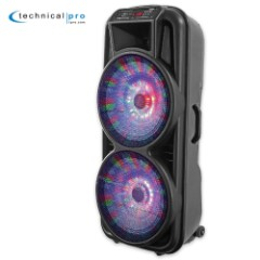 Double 12 In. Two-Way Bluetooth LED Loudspeaker