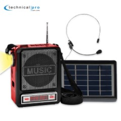 Solar Powered Rechargeable Speaker