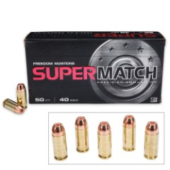 Freedom Munitions ProMatch .40 Smith & Wesson 180gr HP Ammunition - Box of 50