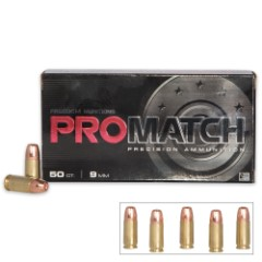 Freedom Munitions ProMatch 9mm Luger 124gr HP Ammunition - Box of 50