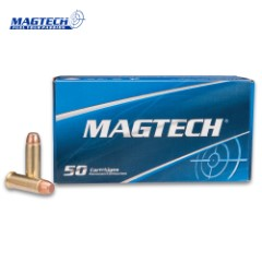 Magtech .38 Special / 158gr Smith & Wesson (S&W) Full Metal Jacket (FMJ) Flat Ammunition - Box of 50 Rounds - Military Law Enforcement Competition Target Match Grade
