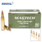 Magtech 5.56 x 45 / 62gr Full Metal Jacket (FMJ) Ammunition - Box of 50 Rounds - Military Law Enforcement Competition Target Match Grade