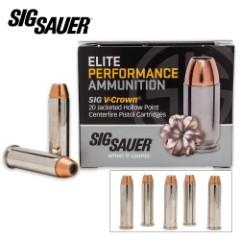 SIG Sauer Elite V-Crown .357 Magnum 125gr JHP Ammo – Box of 20