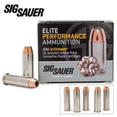SIG Sauer Elite V-Crown .38 SPL 125gr JHP Ammo – Box of 20