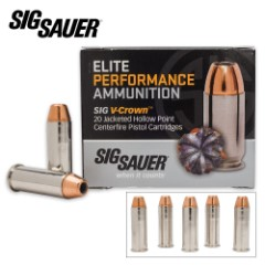 SIG Sauer Elite V-Crown .44 Mag 240gr JHP Ammo – Box of 20