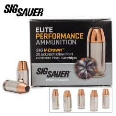 SIG Sauer Elite V-Crown .380 Automatic Colt Pistol 90gr JHP Ammo – Box of 20