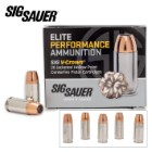 SIG Sauer Elite V-Crown 9 mm Luger 124gr JHP Ammo - Box of 20