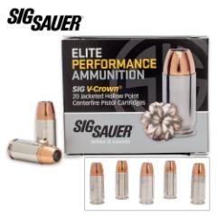 SIG Sauer Elite V-Crown 9 mm Luger 124gr JHP Ammo – Box of 20