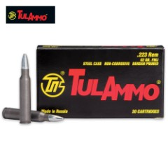 TulAmmo .223 REM 62-Grain Full Metal Jacket Rifle Ammo - Box of 20 Rounds