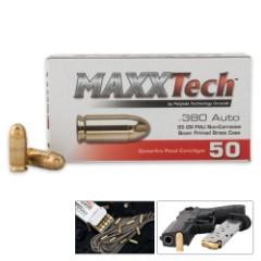 MaxxTech .380 ACP 95 Grain FMJ