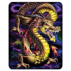 Aurora Dragon Faux Fur Blanket