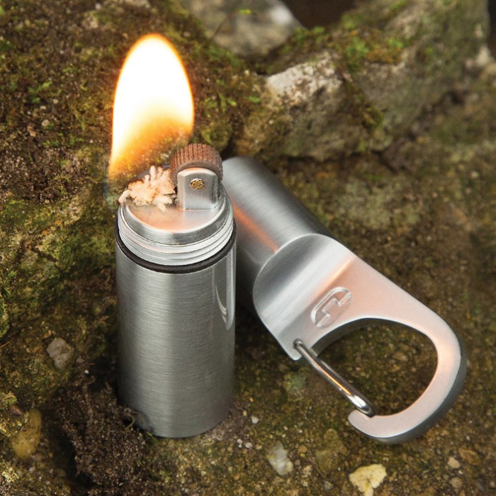 nebo tools firestash keychain key ring lighter kennesaw cutlery. Black Bedroom Furniture Sets. Home Design Ideas