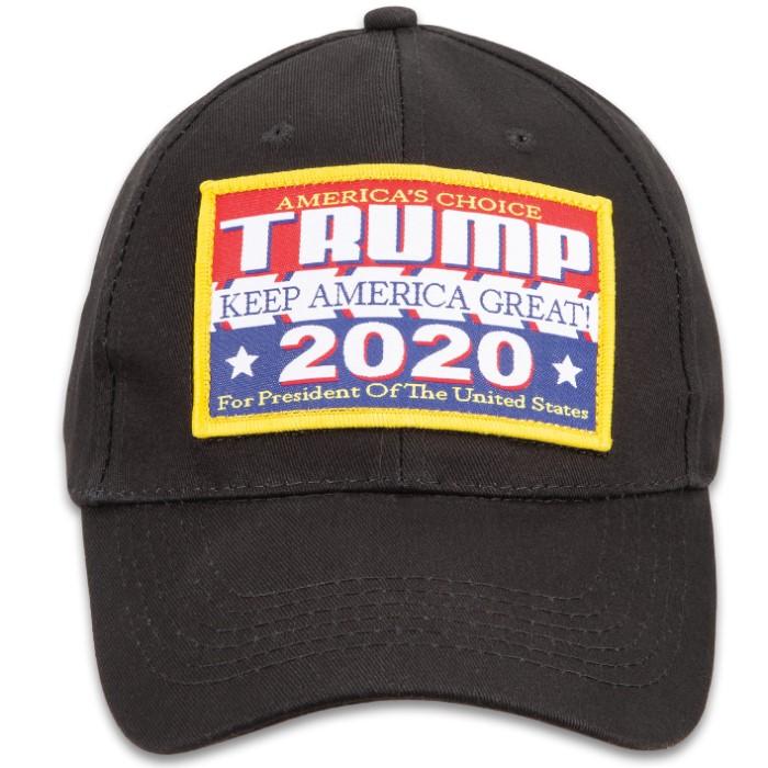 Trump For 2020 Black Cap - Hat, 100 Percent Cotton