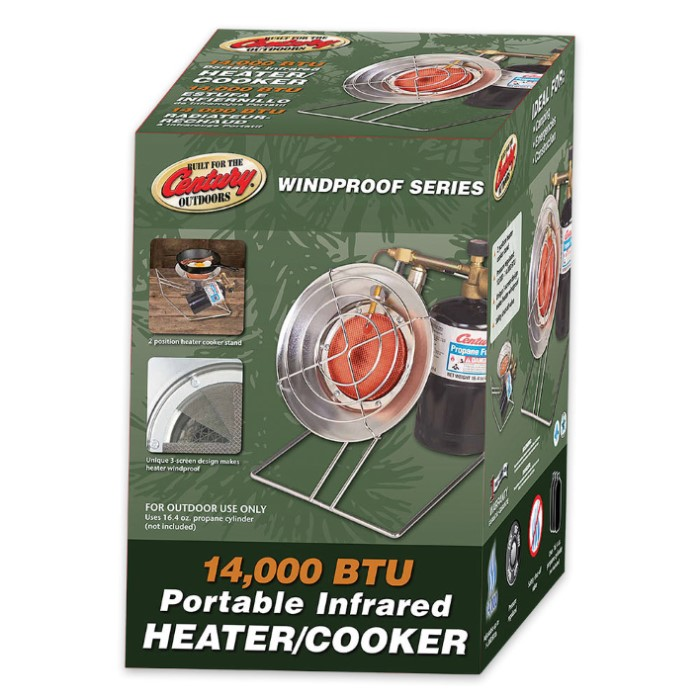 Century Outdoor Propane Fueled Infrared Heater Cooker