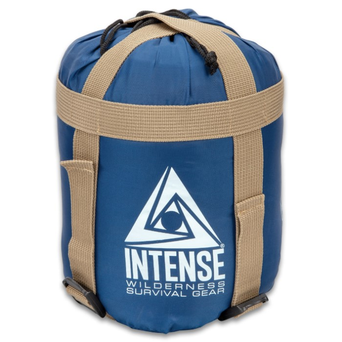 Intense Sleeping Bag With Compression Straps And Stuff