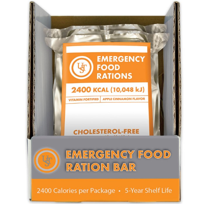 Emergency 5 year food bars kennesaw cutlery for Food bar emergency