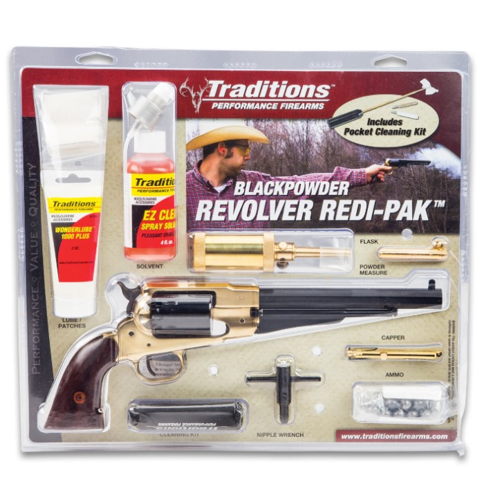 Traditions Firearms Colt 1858 Army Revolver with Redi-Pak - Working
