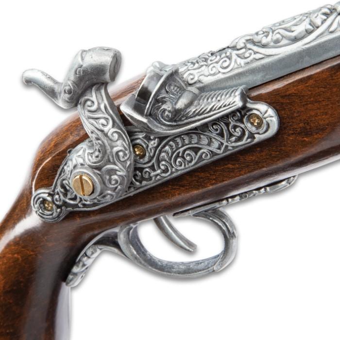 Replica Decorative Flintlock Pirate Pistol With Stand ...