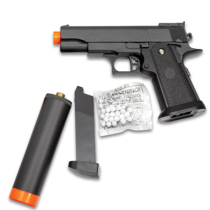 UKArms M1911 Hi Capa Spring Powered Airsoft Pistol - Metal