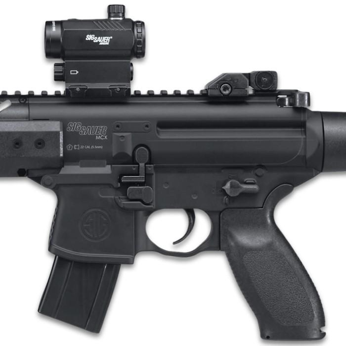 Sig Air Mcx Black Air Rifle With Micro Red Dot Sight