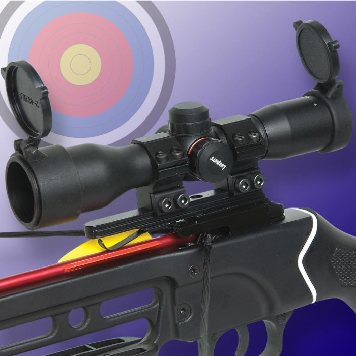 Leapers 4X32 Mini Crossbow Scope with 5-Step RGB Illuminated Reticle