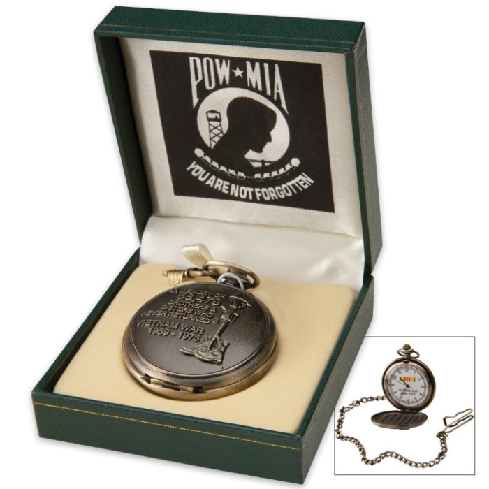 POW MIA Vietnam Memorial Pocket Watch