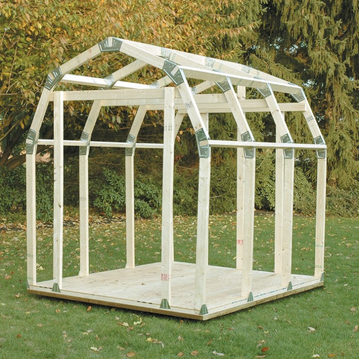 Diy Sheds For Sale: 2x4 Basics DIY Shed Kit - Barn Roof Style