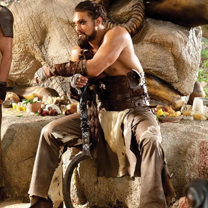 Jason Momoa Knives: Game Of Thrones Khal Drogo Arakh Full Tang Sword