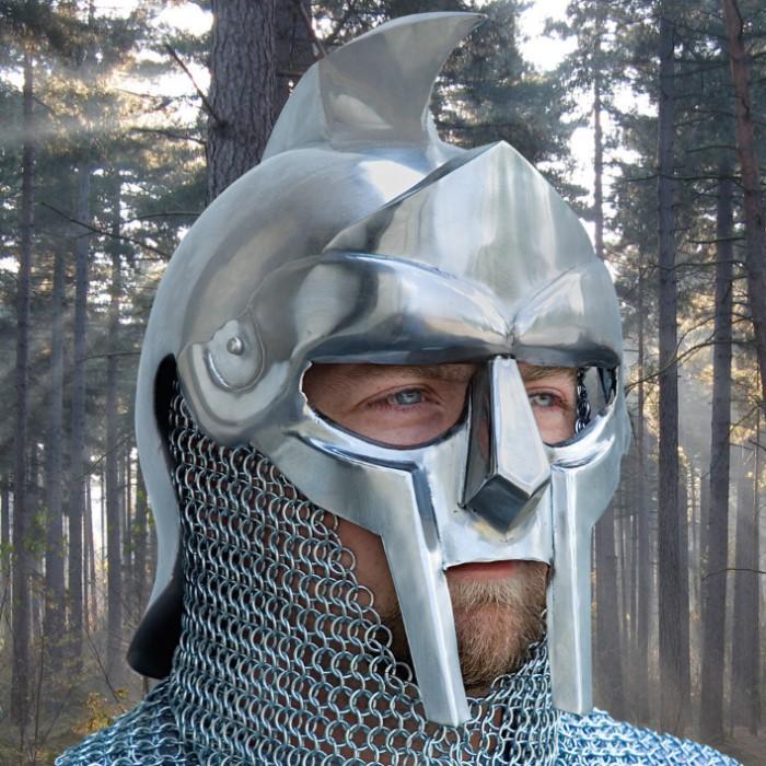 Legends in Steel Gladiator Warrior Steel Helmet